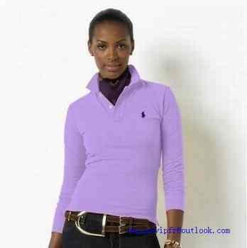 Vendre Femme a T Lauren Shirt Achat Polo Manche Ralph Longue eEH29YWID